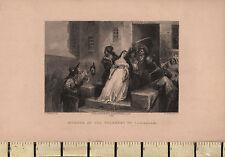 1881 DATED ANTIQUE PRINT ~ MURDER OF THE PRINCESS DE LAMBALLE