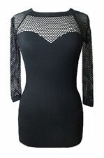 Unbranded Fitted Tops & Shirts Gothic for Women
