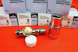 Iflo 15mm Polished Chrome TRV Replacement Head Senor/Straight Valve Body/Cover