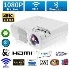 12000 Lumen 3D Heimkino Projektor Beamer HDMI Home Theater Full HD 1080P Media