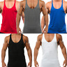 Mens Gym Vest Racerback Bodybuilding Muscle Stringer Tank Top Bodybuilding Vest