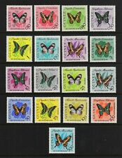 GUINEA #291-304; C47-C49 Mint Light Hinge 1963 VARIOUS BUTTERFLIES CV $30