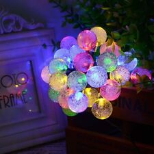 30 LED Solar String Lights Crystal Ball Outside Garden Yard Christmas Party Home