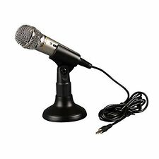 MINI 3.5MM  Studio Speech Microphone MIC with Stand Mount for Karaoke Microphone