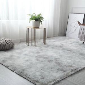 5ft x 7ft Faux Fluffy Shag Rug Long Pile Non-Skid Furry Carpet in Many Size