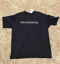 Adidas Mens L Navy 2008 Notre Dame Football Wake Up The Echo Short Sleeve Shirt