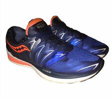 Saucony Hurricane 2 ISO Series Everun Blue Orange Running Athletic Shoes Sz 10.5