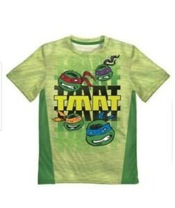 Big Boys Marvel Nickelodean Ninja Turtles Mesh Active Tee T-Shirt L, XL, 2XL NEW