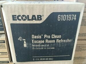 Case of 2 Ecolab 6101974 Oasis Pro Clean Escape Room Refresher 2L Each