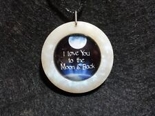 I Love you to the Moon and Back Pendant, friendship jewelry, anniversary, love