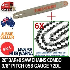 "20"" BAR+6 CHAIN FIT HUSQVARNA CHAINSAW 556-AT 570-AT 576XP-AT 390XP 395XP 3120XP"