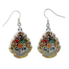 Silver Plated Hogwarts Crest Earrings New Official Genuine Harry Potter