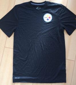 Mens Nike NFL Pittsburgh Steelers American Football Dri-Fit T-Shirt Black Small