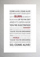 Hugh Jackman (Greatest Showman) - Come Alive - Colour Print Poster Art