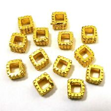 22 PCS 7X5MM SOLID COPPER BIG HOLE BALI BEAD 18K GOLD PLATED 706