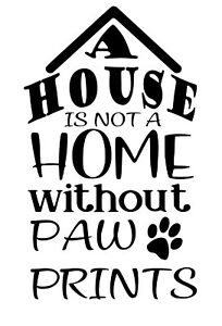 A House Is Not A Home Wine Bottle Decal / Sticker (bottle not included)