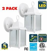 CORAMDEO 2-Pack Outdoor LED Wall Sconce Light - Durable Cast Aluminum