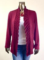 CHICO'S $128 NEW TRAVELERS MURBERRY-RED PRINCESS-PLEAT JACKET SIZE 2P  (PETIT-L)