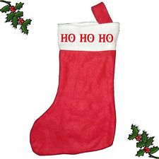 HO HO HO Xmas Santa Stocking Printed Festive Father Christmas Customised