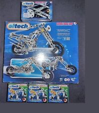 Lot de 5 Eitech - Construction mécanique : 1 Moto 3/1, 1 Avion, 3 Chiens