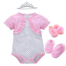 Newborn Baby Girl Infant playsuit Bodysuit Clothes Tutu party dress outfits