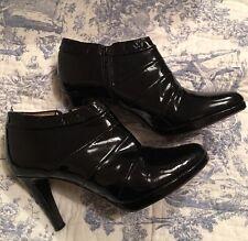 Russell bromley Damas Tacón Alto Charol Negro Zapatos Talla 40 Reino Unido 6