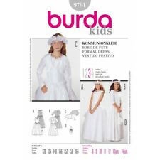 Burda Kids Bridesmaid Communion Dress Fabric Sewing Pattern 9761