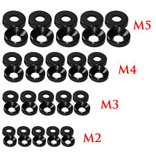 Aluminum Alloy M2 M3 M4 M5 Anodized Countersunk Head Bolt Washers Gasket LOT