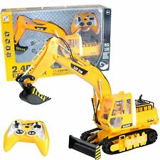Radio Remote Control RC JCB Toy Excavator Bulldozer Digger Truck Construction