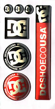 DC Shoe Co. Skateboard Resin / Bubble Stickers - Set of 7 skate snowboard surf