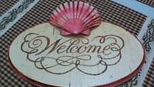 Pisano Wooden Seahsell Welcome Sign