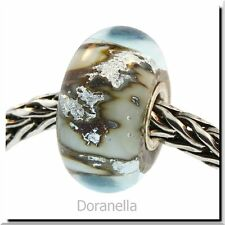 Authentic Trollbeads Glass 62009 Silver Mountain :1