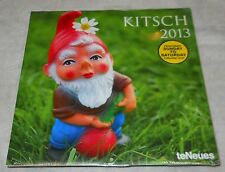 KITSCH, 2013 COLLECTABLE CALENDAR, SEALED, IMAGES OF GNOMES, FLAMINGOS & MORE!