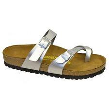Birkenstock Mayari Patent Shiny Silver Womens Sandals UK 5