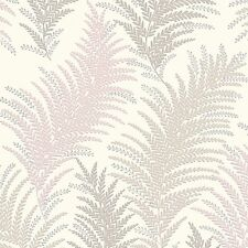 New Orleans Silver and Grey Fern Leaf Wallpaper Silver Sparkle 30508-3