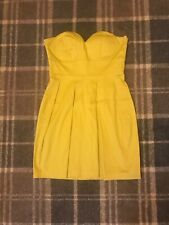 Yellow Strapless MiniDress Size 10 New