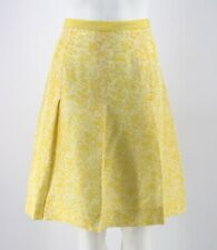 Banana Republic Silk Skirt Size 6 Yellow Floral Print Fully Lined A-Line Womens