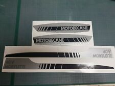 MOTOBÉCANE - kit stickers autocollants carter 40 V MOBYLETTE en argent