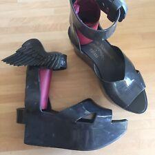 Vivienne Westwood Black Marble Rocking Horse  Gothic Kawaii Harajuku Heels UK 5