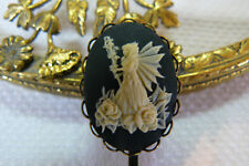 Fairy Cameo Bobby pins Hair Pins, Clips Accessories Bronze tone lace edge- New