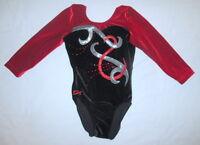 GK Elite Adult Extra Small AXS Gymnastics Competition Leotard Foil Rhinestones