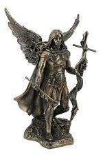 Archangel St. Gabriel With Cross And Trumpet Statue Sculpture Figurine