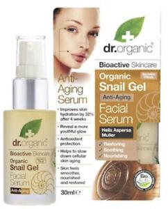 Brand New Sealed Dr Organic Snail Gel Healthy Anti Aging Facial Serum 30 ml
