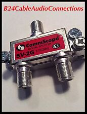 CommScope 2-way Cable TV DIGITAL CABLE INTERNET COAXIAL RG6 SPLITTER 1Ghz NEW!