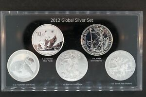 2012 Global Silver 5 One Ounce Coin Set