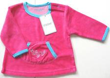 Nicki Shirt Gr.62 68 74 Fixoni NEU pink beere velour pullover blumen baby