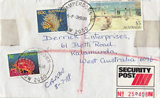 Stamps Australia $5 Holiday at Mentone uprated sent security post cover to WA