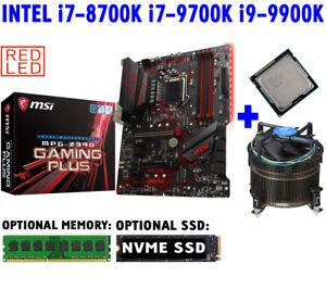 Intel i7-8700K i7-9700K i9-9900K CPU+ MSI MPG Z390 GAMING PLUS Motherboard COMBO