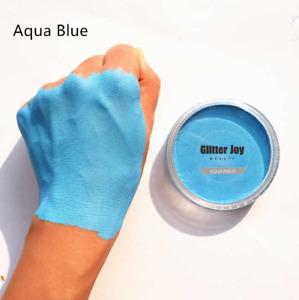 Light Blue Matte Face & Body Paint Pot Festival Rave Makeup Water Based Pigment