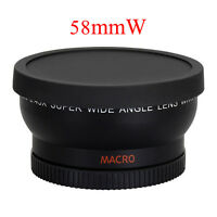 58mm Wide Angle Lens 0.45X for Canon EOS 1000D 1100D 500D Rebel T1i T2i T3i